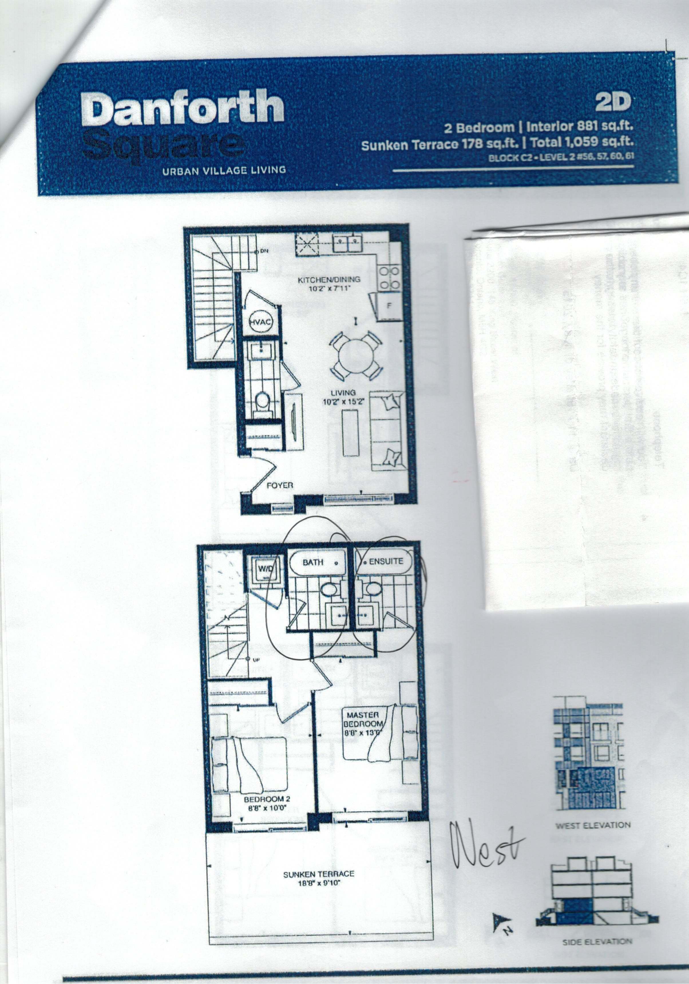 Danforth Square Townhouse Floor-Plan