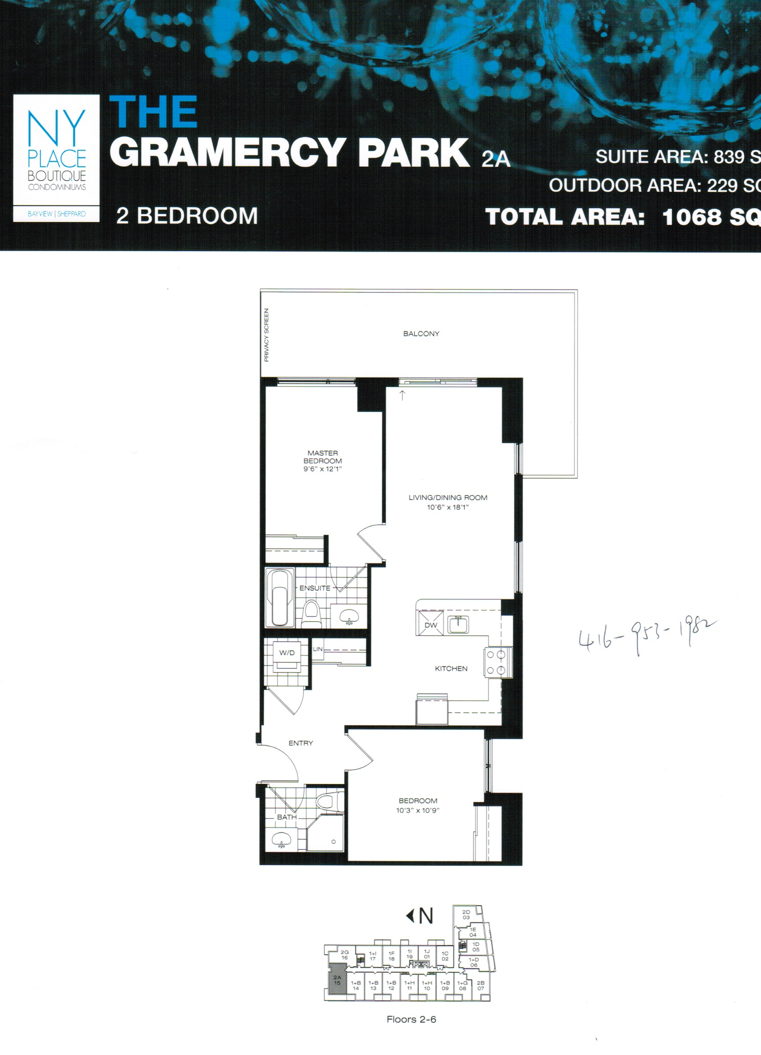 Floor plans 2bedroom toronto new condos for Condo floor plan